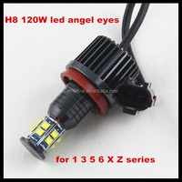 Xenon white c ree 120w LED marker halo light H8 LED angel eyes for BMW E60 E61 E90 E92 E70 E71 E82 E89 1 3 5 Series X5 X6 Z4