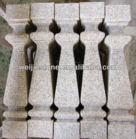 Natural Pink Stone granite outdoor stone pillar On Sale, decoration pillar