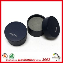 black color luxury design jewelry packaging box paper container tube falt edge with foam tray for earring, ring, necklace