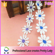 manufacturer hot lace/fashion pleated lace trim/wholesale new lace trimming for dress
