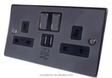 Top qualidade reino unido tipo de fonte de alimentação por atacado USB tomada 250 V com carregador USB 2.1A portas soquete
