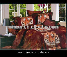 2014 NEW PRODUCT LUXURY 100% cotton fabric 4 pieces king queen size 3d bed sheet set bedding comforter PRINTED