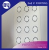 Custom Printing round shape self destructive label sticker