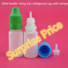 China hot sell 10ml plastic e liquid/cigarette/juice nicotine dropper bottles with childproof cap