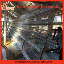 Santow Q235 steel material 4 tier 160 birds layer chicken cage