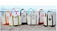 Womens Large Print Tote Monogram Beach Bag