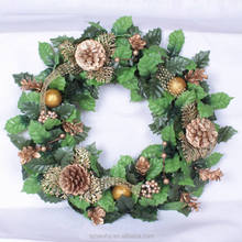 Dia 60cm ivy leaves artificial wreath Fall door thanksgiving christmas flower wreath