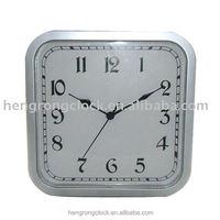 quartz clock for low price cheap square shape Home Decor Wall Clock quartz