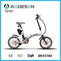 cheap mini 16'' folding electric bike/bicycle, Aodeson ebike TZ161 children bike, easily carry, easily fold