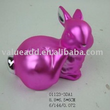 2012 ceramic easter electroplating bunny figurine