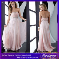 A-line Strapless Open Back Beaded Chiffon Puffy Designer Evening Gowns for Rent in Manila