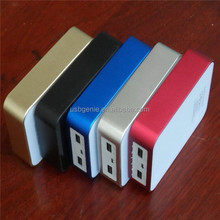 6000mAh Mobile Powers Dual USB Output Power Bank for smartphone