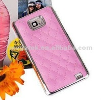 Smartphone case phone accessories Chrome luxury hard protective case for galaxy s2 i9100