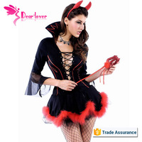 Hot selling Halloween Miss Iblis Devil in sexy Costume