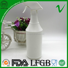 HDPE white cylinder reusable 1000ml air freshener plastic bottle with trigger spray
