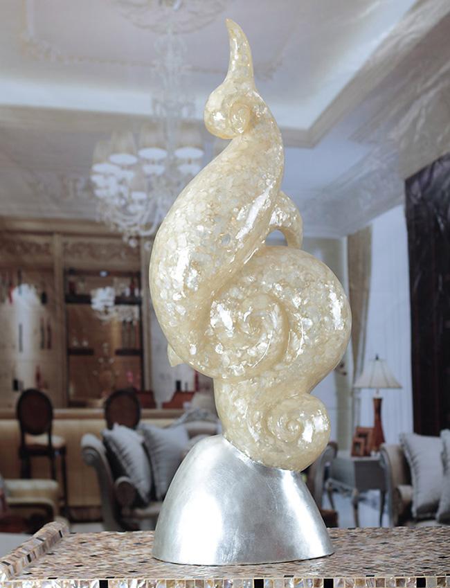 Moderne idée art résine blanc nuage intérieur sculpture pour la décoration intérieure