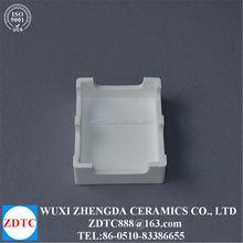 Alumina ceramic crucible for electronic parts