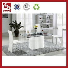 TC616 Wholesale modern style luxury glass dining room furniture for sale
