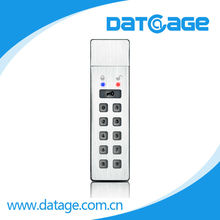 Datage number key pin code password USB flash drive