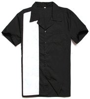 wholesale manufacturer short sleeves bowling stylish western shirts for men