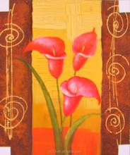 excellent art flower oil painting ct-389,modern decor flower painting