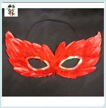 Venetian Masquerade Ball Hen Night Party Dance Red Feather Eye Masks HPC-0499