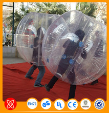 Best price XG Customized hollow plastic tpu inflatable human bumper bouncing balls