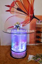 interactivo led barra de cascada de cristal de mesa