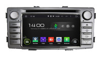 OEM Manufacturer Car audio stereo system/in car radio/dvd/gps navigation with android 4.4 OS for Toyota Hilux