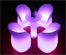 modern sofa furniture / night club plastic sofa set/ Led Glowing Sofa