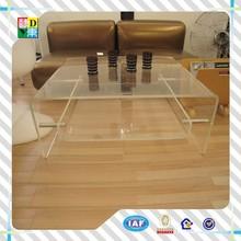 2015 del diseño simple acrílico coffee table / acrílico morden tabla de la bandeja made in China , precio bajo