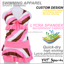 Custom fashion design professional Push up Lycra good quality waterproof Sexy Woman Swimming suit
