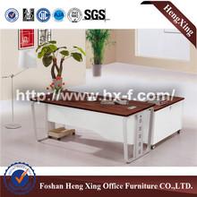 Hot sale melamine executive office desk with metal legs HX-5N038