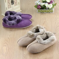 2015 Newest micro suede upper warm plush lining TPR outsole slipper for womman winter indoor slipper for Lady