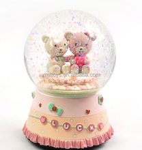 resin bear snow globe for resin craft