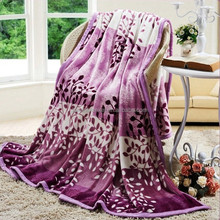 free sample alibaba china 2015 New products wholesale polyester purple throw blanket