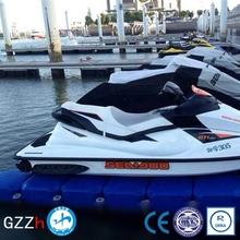 Slip resistant surface modular watercraft floating dock for sale