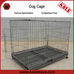 China Manufacturer Eco-friendly Portable Folding 93x57x74cm Metal Dog Cage For Sale