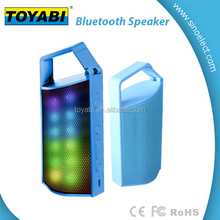 High Quality sound of Wireless Bluetooth Speaker with LED light Colorful and Handle design for Outdoor Using FM radio TF Card