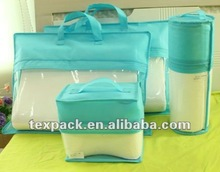 Most popular and high quality Non-woven & PVC quilt storage bag, bedding packaging bag