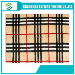 Factory direct sale Double-sided print tartan plaid Flannel fabric
