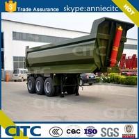 China Supplier 25M3 40 Ton U or V shape Dump Tipper Semi Trailer