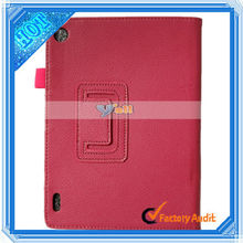 """7.9"""" Tablet PC Litchi Grain Two-Folded PU Leather protective case for laptop for Iconia A1 Tablet PC Rose Red"""