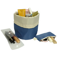 Foldable portable and lightweight cosmetic bag, makeup set, toiletry and jewelry holder