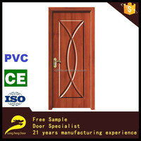 Single arch shaped wood carved decorative interior pvc door panel