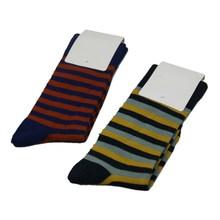 GSM-141 Hot Wholesale Custom Colorful Striped Name Brand Men Bamboo Business Socks