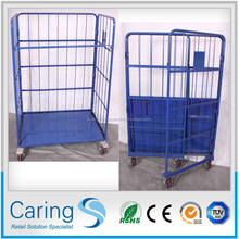 folding wire roll cage/container for laundry powder