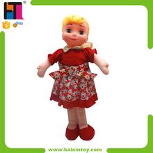 18 pulgadas encantadora del algodón de la muñeca de trapo rellenos chica con IC