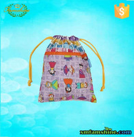 high quality polyester cute drawstring bags