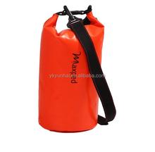 500D tarpaulin waterproof dry bags with shoulder straps
